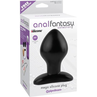 Anal Fantasy Collection Mega Silicone Plug - Black