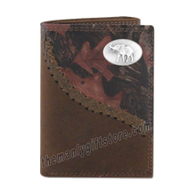 Load image into Gallery viewer, Elephant Alabama Fence Row Camo Genuine Leather Trifold Wallet