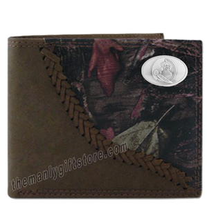 Florida State Seminoles FSU Fence Row Camo Leather Bifold Wallet