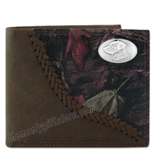 Load image into Gallery viewer, Labrador DOG Fence Row Camo Genuine Leather Bifold Wallet