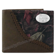 Load image into Gallery viewer, Memphis Tigers Fence Row Camo Genuine Leather Bifold Wallet