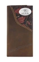 Load image into Gallery viewer, Alabama Crimson Tide Fence Row Camo Leather Roper Wallet