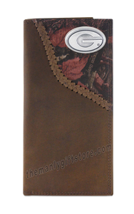 Georgia Bulldogs Fence Row Camo Genuine Leather Roper Wallet