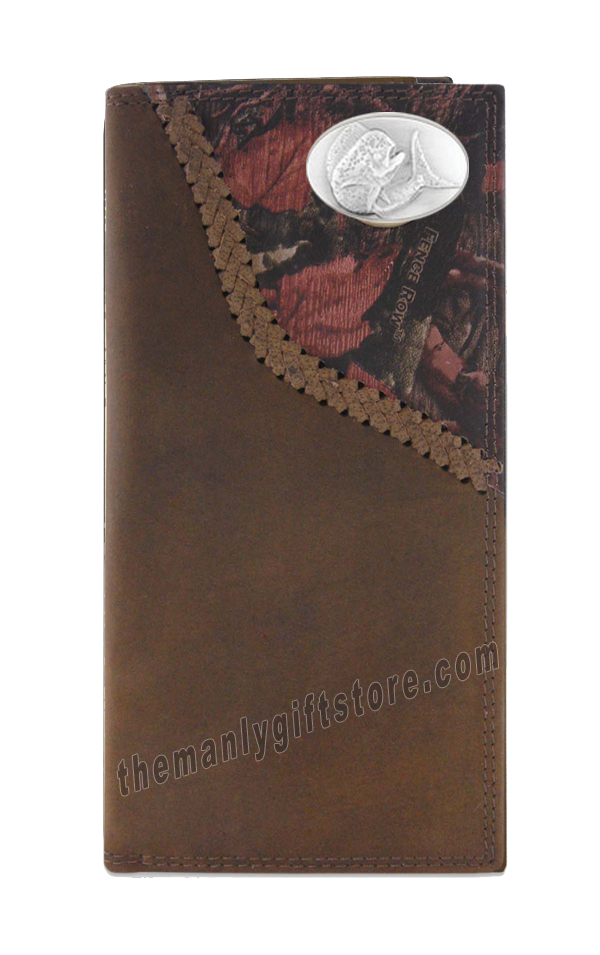 Dolphin Mahi Mahi Fence Row Camo Genuine Leather Roper Wallet