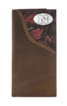 Load image into Gallery viewer, Nebraska Cornhuskers Fence Row Camo Genuine Leather Roper Wallet