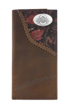 Load image into Gallery viewer, Ohio State Buckeyes Fence Row Camo Genuine Leather Roper Wallet