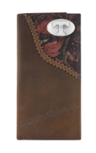 Load image into Gallery viewer, Tennessee Volunteers Fence Row Camo Genuine Leather Roper Wallet