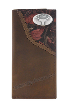 Load image into Gallery viewer, Texas Longhorns Fence Row Camo Genuine Leather Roper Wallet