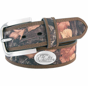 Ole Miss Camo Belt