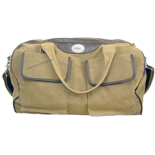 Christian Fish Zep Pro Waxed Canvas Weekender Duffle Bag