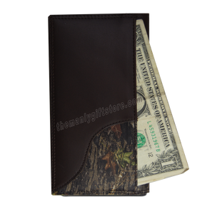 Buck Deer Mossy Oak Camo Zep Pro Leather Roper Wallet