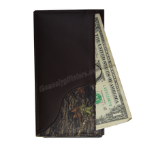 Load image into Gallery viewer, Ohio State Buckeyes Mossy Oak Camo Zep Pro Leather Roper Wallet
