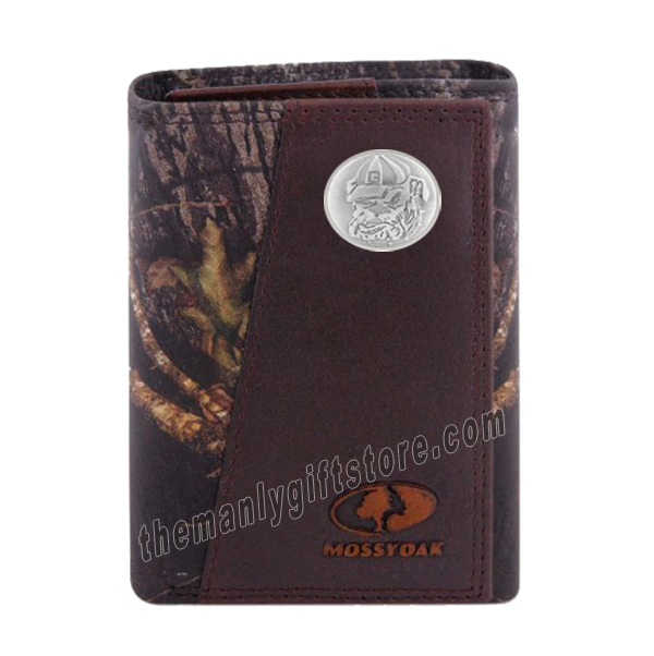 Georgia Bulldogs Mascot Mossy Oak Camo Zep Pro Trifold Leather Wallet