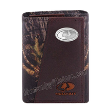 Load image into Gallery viewer, Mossy Oak Logo Mossy Oak Camo Zep Pro Trifold Leather Wallet