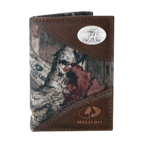 Alabama Crimson Tide Mossy Oak Camo Trifold Wallet