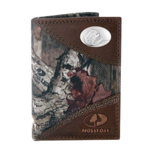 Load image into Gallery viewer, Dolphin Mahi Mahi Mossy Oak Camo Trifold Wallet