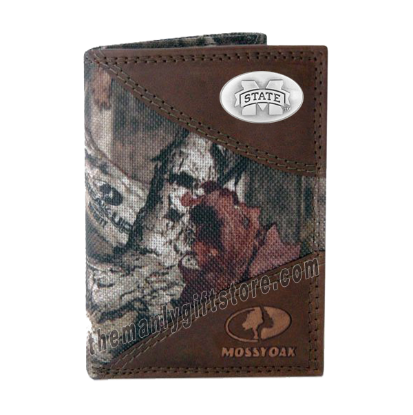 Mississippi State Bulldogs Mossy Oak Camo Trifold Wallet