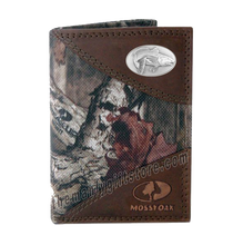 Load image into Gallery viewer, Saltwater Redfish Mossy Oak Camo Trifold Nylon Wallet