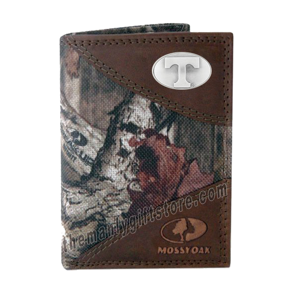 Tennessee Volunteers Mossy Oak Camo Trifold Wallet