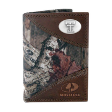 Load image into Gallery viewer, Texas Tech Red Raiders Mossy Oak Camo Trifold Wallet