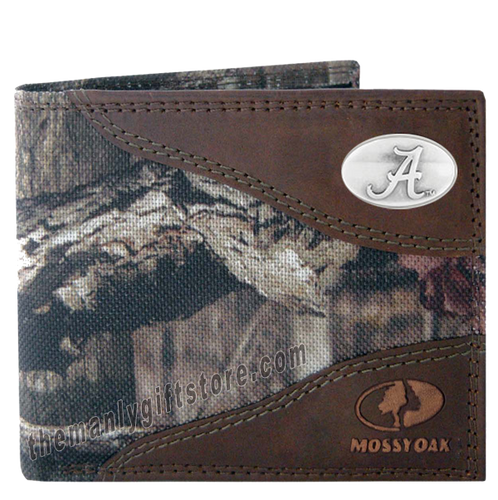 Alabama Crimson Tide Mossy Oak Camo Bifold Wallet