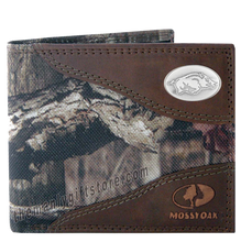 Load image into Gallery viewer, Arkansas Razorback Mossy Oak Camo Bifold Wallet