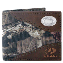 Load image into Gallery viewer, Penn State Nittany Lion Mossy Oak Camo Bifold Wallet