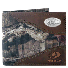 Load image into Gallery viewer, Saltwater Redfish Mossy Oak Camo Bifold Wallet