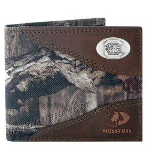 South Carolina Gamecocks Mossy Oak Camo Bifold Wallet