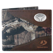 Load image into Gallery viewer, Texas Longhorns Mossy Oak Camo Bifold Wallet