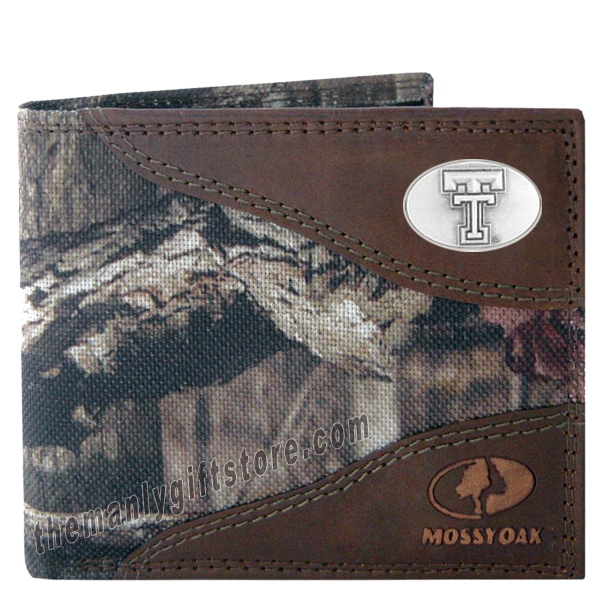 Texas Tech Red Raiders Mossy Oak Camo Bifold Wallet