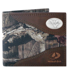 Load image into Gallery viewer, West Virginia Mossy Oak Camo Bifold Wallet