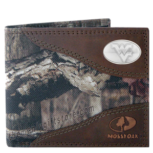 West Virginia Mossy Oak Camo Bifold Wallet