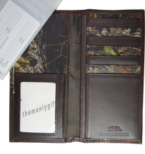 Load image into Gallery viewer, Texas Christian University TCU Mossy Oak Camo Zep Pro Leather Roper Wallet
