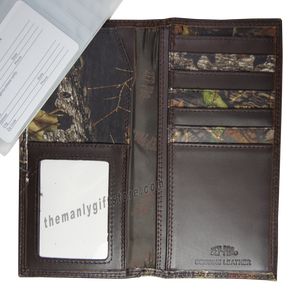 Labrador DOG Mossy Oak Camo Zep Pro Leather Roper Wallet