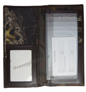 Texas Star Mossy Oak Camo Zep Pro Leather Roper Wallet
