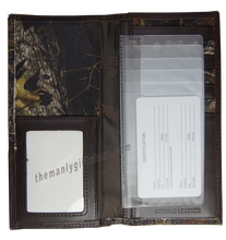 Load image into Gallery viewer, Oklahoma Sooners Mossy Oak Camo Zep Pro Leather Roper Wallet