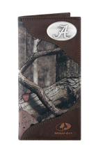 Load image into Gallery viewer, Alabama Crimson Tide Roper Mossy Oak Camo Wallet