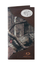 Load image into Gallery viewer, Georgia Tech Yellow Jackets Roper Mossy Oak Camo Wallet
