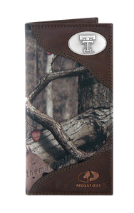 Texas Tech Red Raiders Mossy Oak Camo Roper Wallet