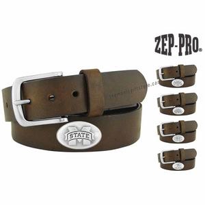 Mississippi State Zep-Pro Leather Concho Belt