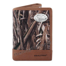 Load image into Gallery viewer, Largemouth Bass Zep Pro Trifold Wallet REALTREE MAX-5 Camo