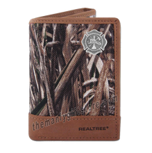 Load image into Gallery viewer, Maltese Cross Fireman Zep Pro Trifold Wallet REALTREE MAX-5 Camo