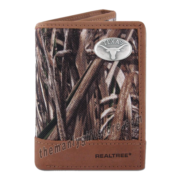 Texas Longhorns Zep Pro Trifold Wallet REALTREE MAX-5 Camo