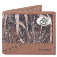 Load image into Gallery viewer, Kansas Jayhawks Zep Pro Bifold Wallet REALTREE MAX-5 Camo