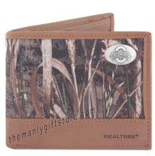 Load image into Gallery viewer, Ohio State Buckeyes Zep Pro Bifold Wallet REALTREE MAX-5 Camo