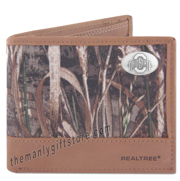 Ohio State Buckeyes Zep Pro Bifold Wallet REALTREE MAX-5 Camo