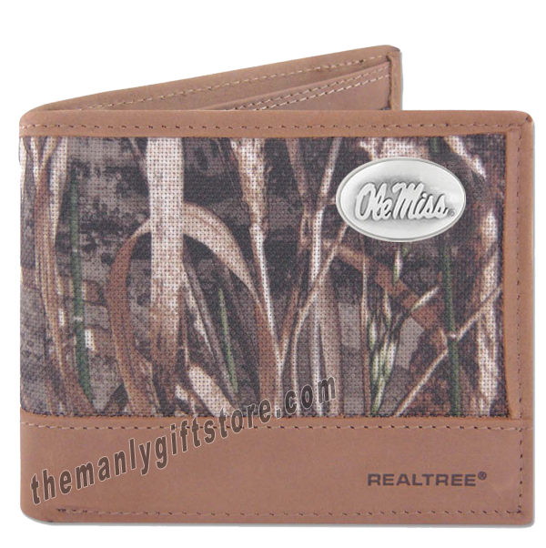 Ole Miss Rebels Zep Pro Bifold Wallet REALTREE MAX-5 Camo