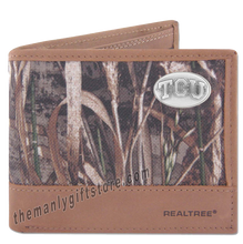 Load image into Gallery viewer, Texas Christian University TCU Zep Pro Bifold Wallet REALTREE MAX-5 Camo