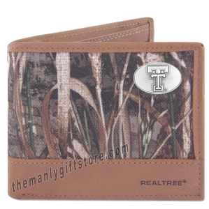 Texas Tech Red Raiders Zep Pro Bifold Wallet REALTREE MAX-5 Camo